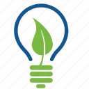eco, ecology, energy, environment, lamp, leaf, light icon