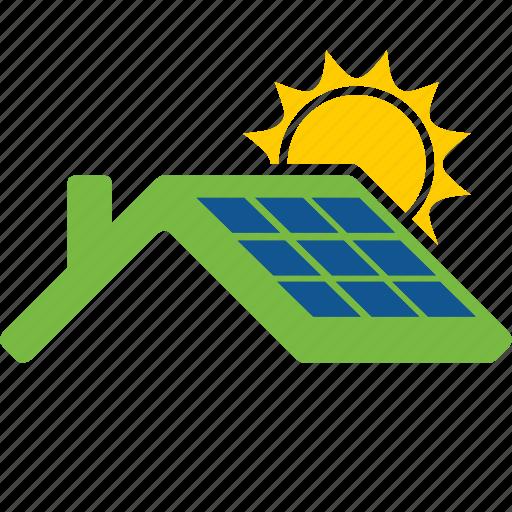 cells, eco, energy, house, panel, salar, sun icon