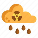 acid, acid cloud, acid rain, radioactive cloud, rain icon