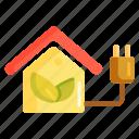 efficiency, energy, energy efficiency, energy efficient house icon