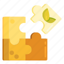 ecology, environmental, environmental solutions, puzzle, puzzle piece, solutions icon