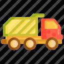 dump, dump truck, garbage, garbage truck, truck