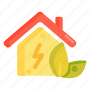 carbon emission, energy, house, low, low energy house icon
