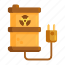 energy, nuclear, nuclear energy, radioactive energy, radioactive waste icon