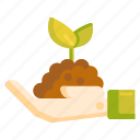 gardening, plant, replant, seedling, soil icon
