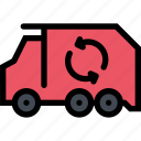 bio, eco, ecology, garbage, green, nature, truck icon