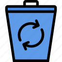 bio, eco, ecology, green, nature, plant, trash icon