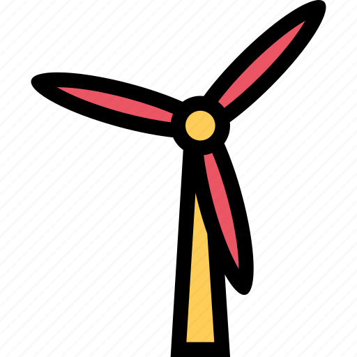 bio, eco, ecology, green, nature, plant, windmill icon
