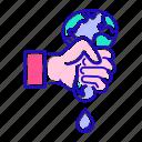 depletion, land, disaster, ecology icon
