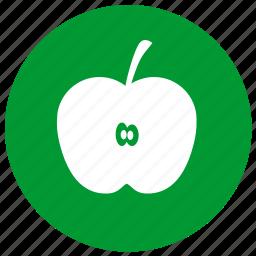 apple, eco, ecology, fruit, vitamin icon