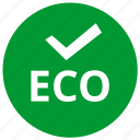 accept, complete, eco, ecology, ok icon