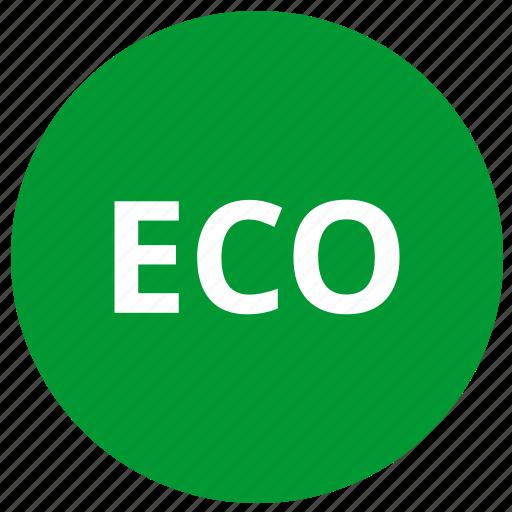 eco, ecology, label, round icon