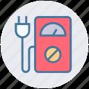 eco plug, ecology, environment, machine, meter, power plug, speedometer machine