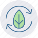 arrows, biodegradable material, ecology, environment, nature, recycle, thin icon