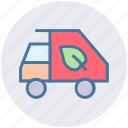 ecology, environment, thin, vehicle, waste icon