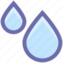 conservation, ecology, environment, plumbing, rain, water, water drops icon