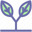 eco, ecology, environment, flower, grass, leaf, nature icon