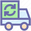 ecologic, ecology, environment, garbage, garbage e, garbage truck, green eco, recycling icon