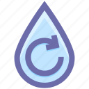 ecology, energy, environment, nergy, recycling, treatment, water, water drop, watere icon