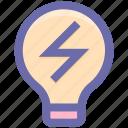 bulb, ecology, energy, environment, idea, lamp, light icon