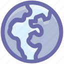 air, earth, ecology, environment, globe, nature, pollution, thin, world icon