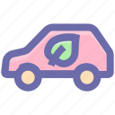 eco, eco car, ecology, environment, friendly, transport, vehicle icon
