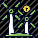 ecology, energy, green, windmills, windturbine icon