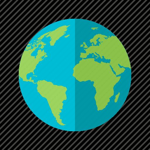 earth, globe, map, ocean, planet, sphere, world icon