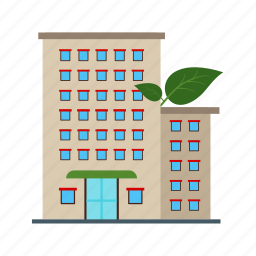building, eco, friendly, green, house, living, solar icon