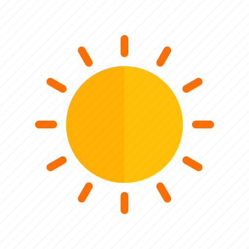 clouds, nature, orange, rays, sky, sun, sunset icon