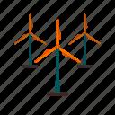 farm, mill, power, turbine, wind, windfarm, windmill