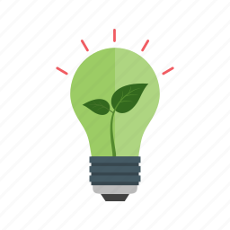 bulb, eco, electricity, energy, green, preserve icon