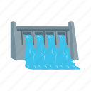 bridge, dam, hydro, plant, power, river, water