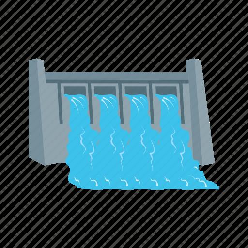 bridge, dam, hydro, plant, power, river, water icon