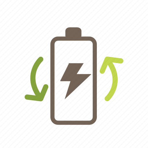 battery, charge, energy, environment, global, nuclear, recycle icon