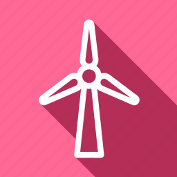 eco, ecology, environment, green, nature, plant, wind mill ecological generator icon