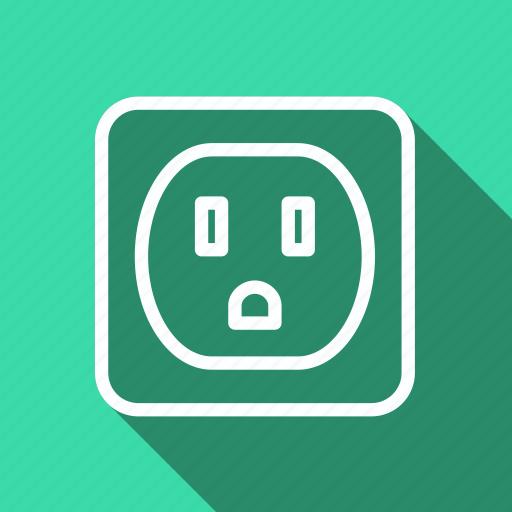 ecology, environment, green, nature, plant, plug, socket icon