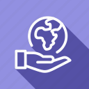 eco, ecology, environment, global, green, hand, plant icon