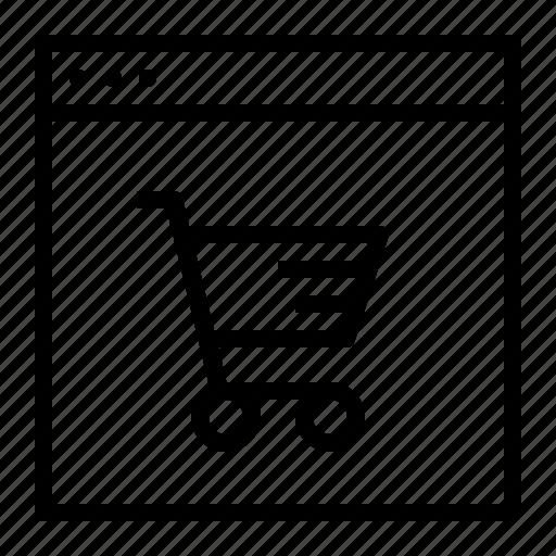 cart, discount, ecommerce, finance, sale, shop, window icon