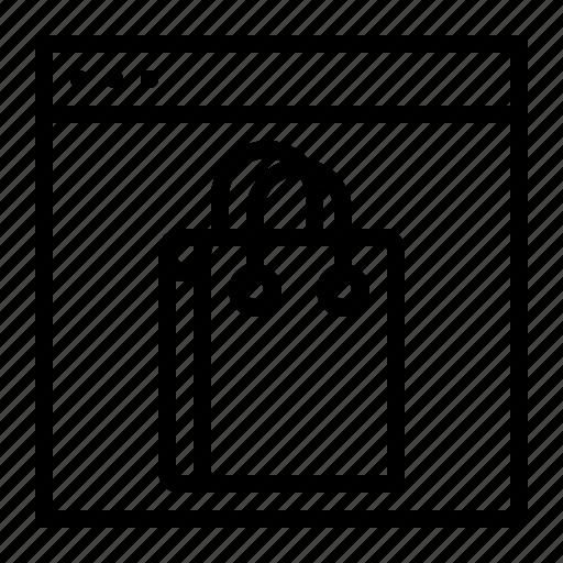 carrybag, cart, handbag, mobile, phone, shopping, window icon