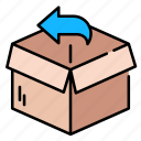 box, delivery, ecommerce, logistic, package, packaging, return icon