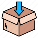 box, delivery, ecommerce, logistic, package, packaging, shipping icon
