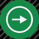 arrow, forward, go, menu, next, right icon