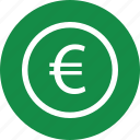 coin, euro, money, online, pay, revenue, sign icon