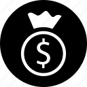 bag, bank, banking, dollar, money, sign icon