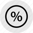 interest, money, percent, percentage, rate icon