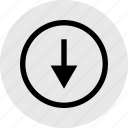 arrow, down, point, pointer, price icon
