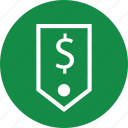 dollar, money, price, pricing, sign, tag icon