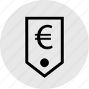 business, euro, money, price, sign, tag icon