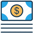 cash, dollar, fees, finance, money, payment icon